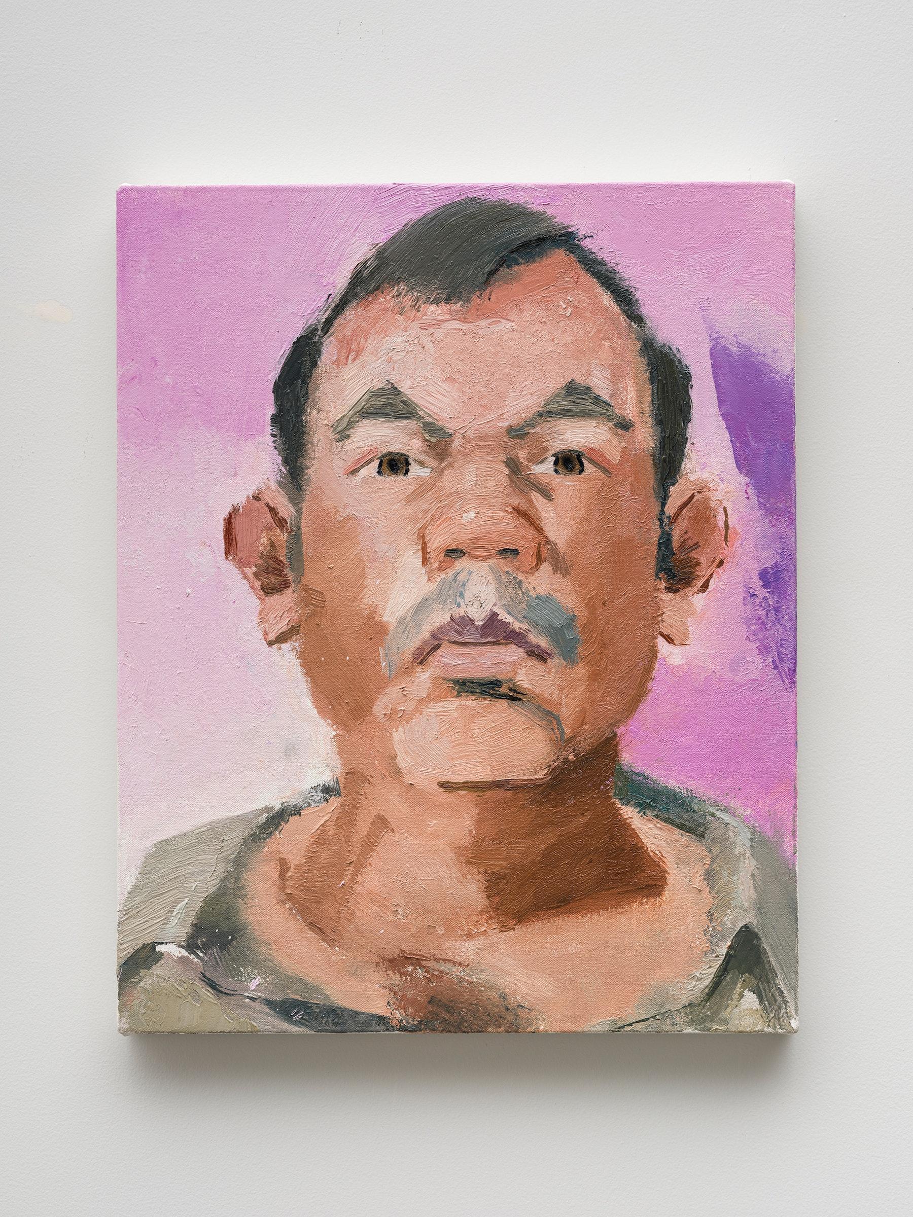 "John Sonsini ""Gabriel,"" 2021 Oil on canvas 20"" x 16"" [HxW] (50.8 x 40.64 cm) Inventory #SON127 Courtesy of the artist and Vielmetter Los Angeles Photo credit: Jeff Mclane"