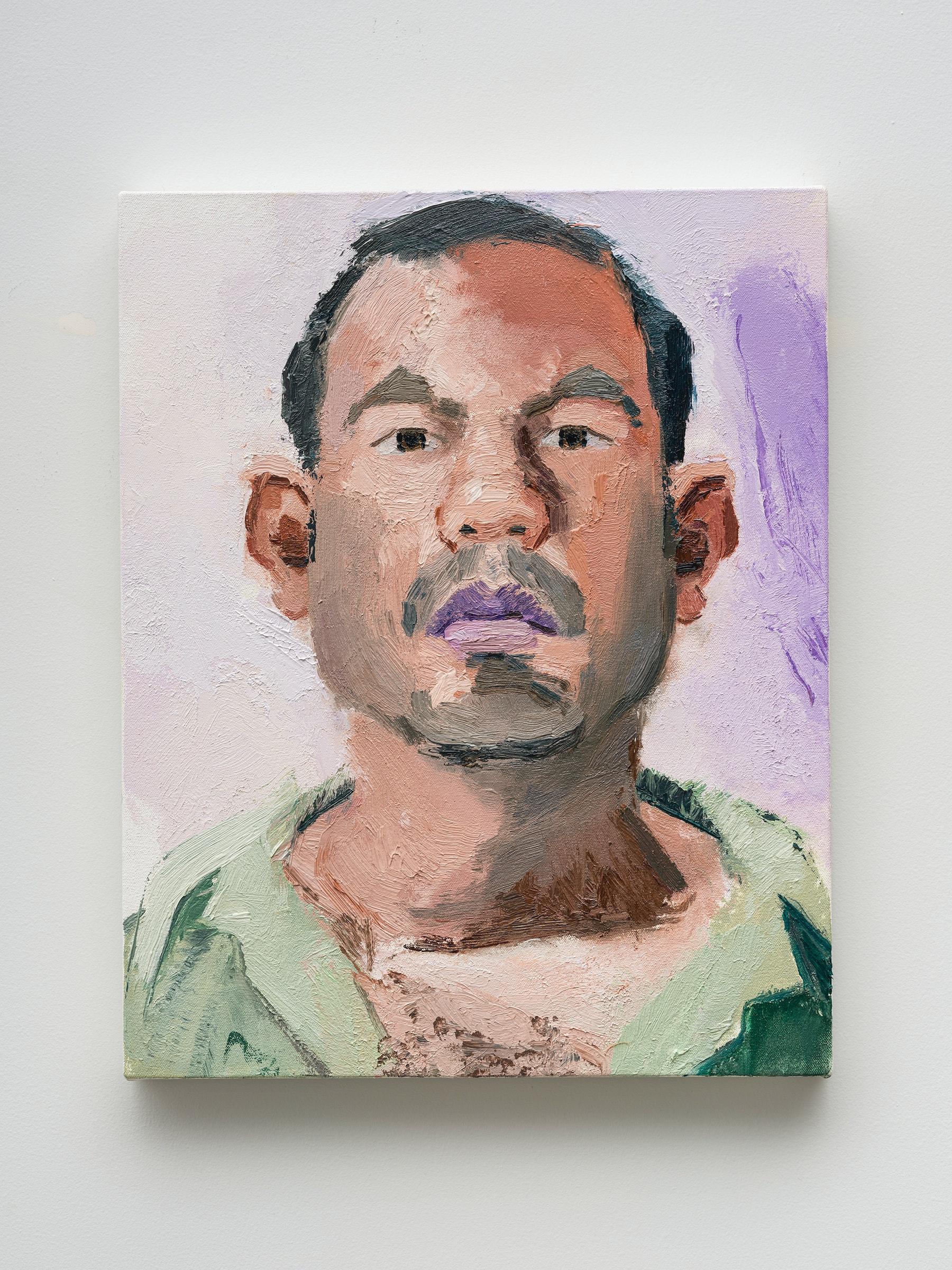 "John Sonsini ""Gabriel,"" 2020 Oil on canvas 20"" x 16"" [HxW] (50.8 x 40.64 cm) Inventory #SON128 Courtesy of the artist and Vielmetter Los Angeles Photo credit: Jeff Mclane"