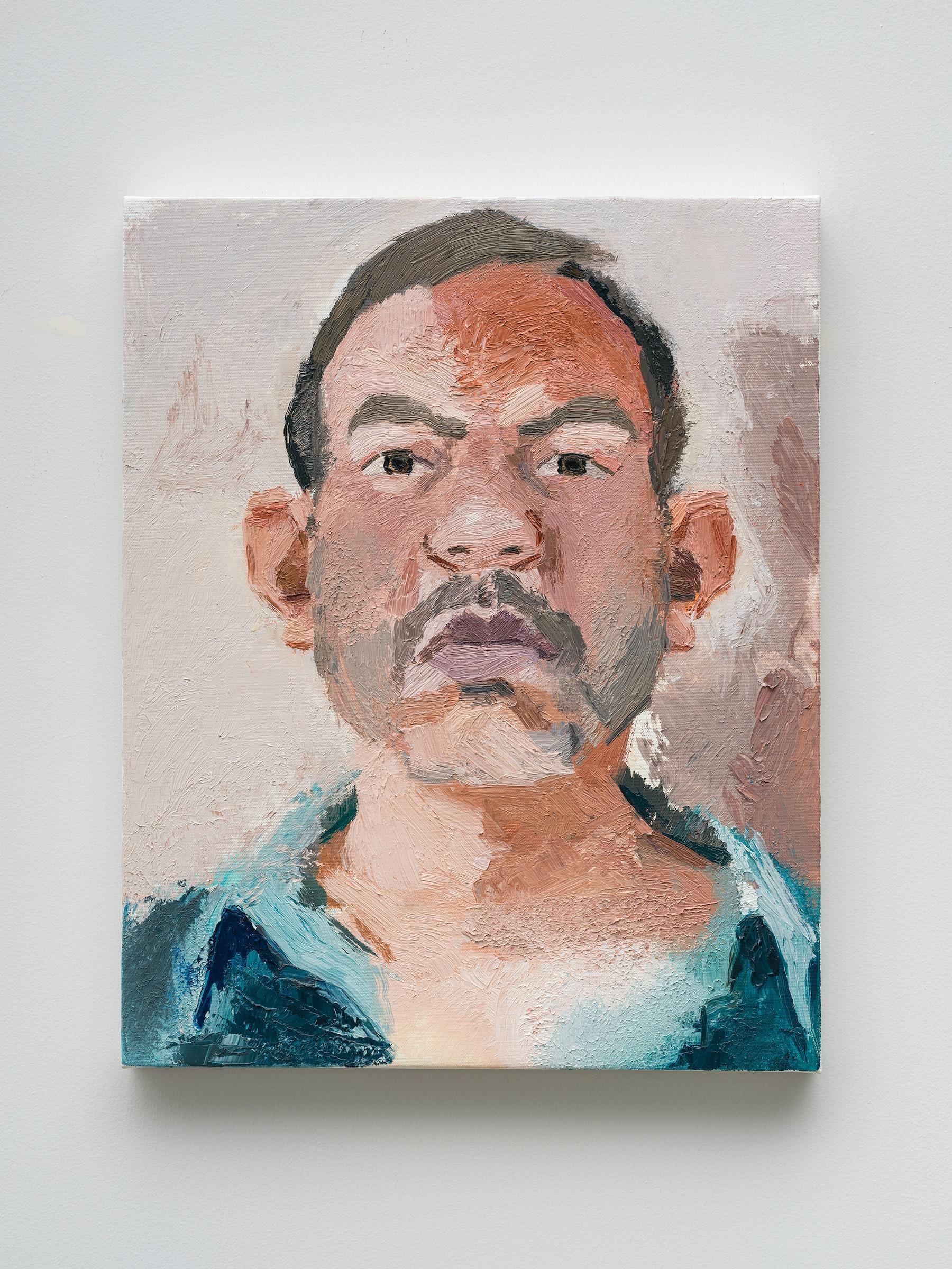 "John Sonsini ""Gabriel,"" 2021 Oil on canvas 20"" x 16"" [HxW] (50.8 x 40.64 cm) Inventory #SON129 Courtesy of the artist and Vielmetter Los Angeles Photo credit: Jeff Mclane"
