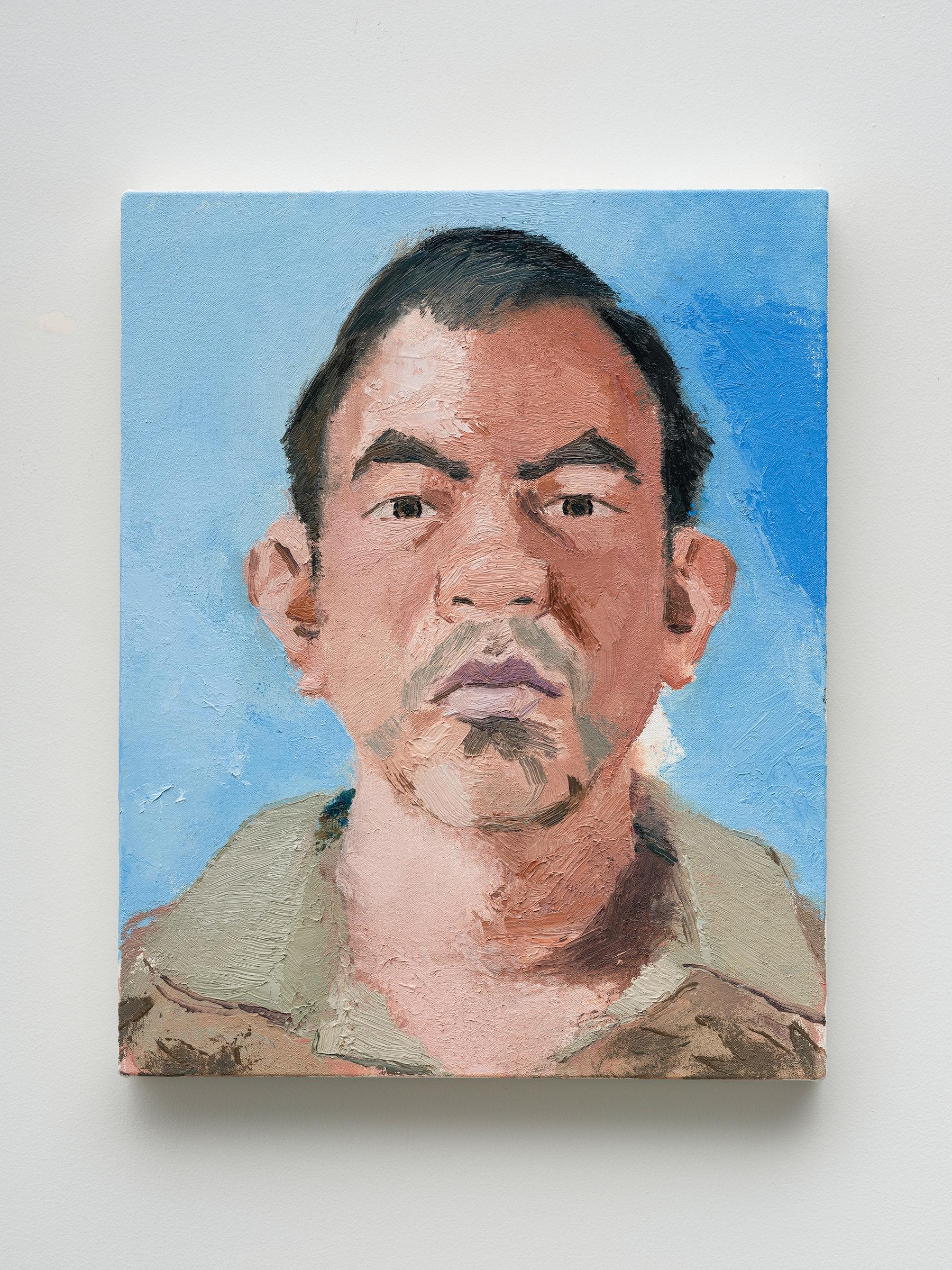 "John Sonsini ""Gabriel,"" 2021 Oil on canvas 20"" x 16"" [HxW] (50.8 x 40.64 cm) Inventory #SON130 Courtesy of the artist and Vielmetter Los Angeles Photo credit: Jeff Mclane"