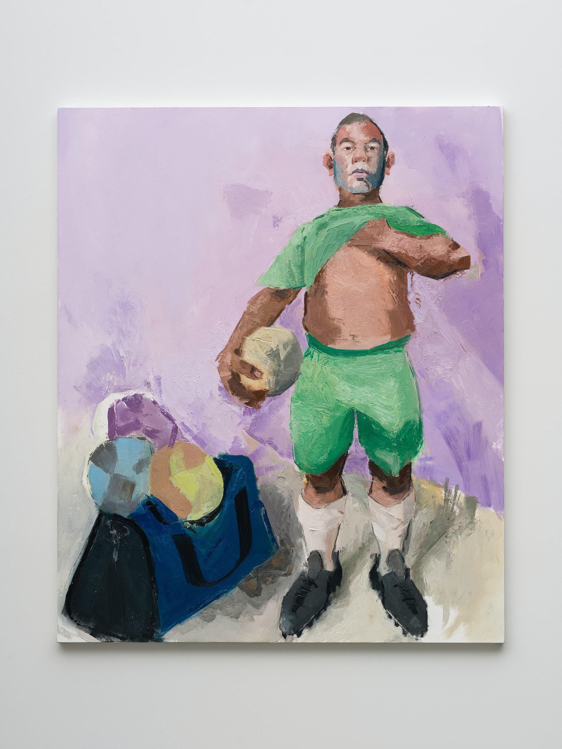 "John Sonsini ""Gabriel,"" 2021 Oil on canvas 72"" x 60"" [HxW] (182.88 x 152.4 cm) Inventory #SON131 Courtesy of the artist and Vielmetter Los Angeles Photo credit: Jeff Mclane"
