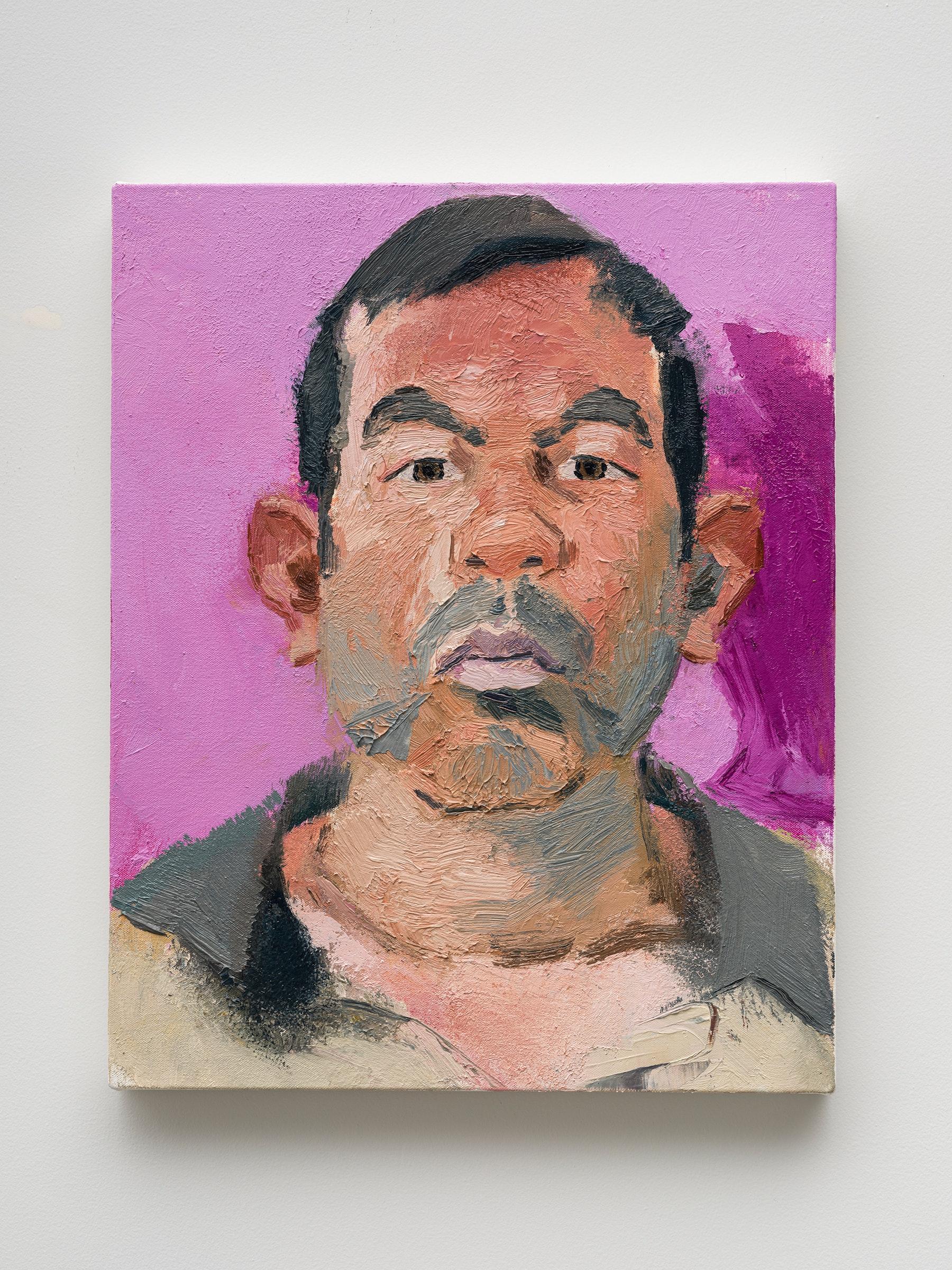 "John Sonsini ""Gabriel,"" 2021 Oil on canvas 20"" x 16"" [HxW] (50.8 x 40.64 cm) Inventory #SON132 Courtesy of the artist and Vielmetter Los Angeles Photo credit: Jeff Mclane"
