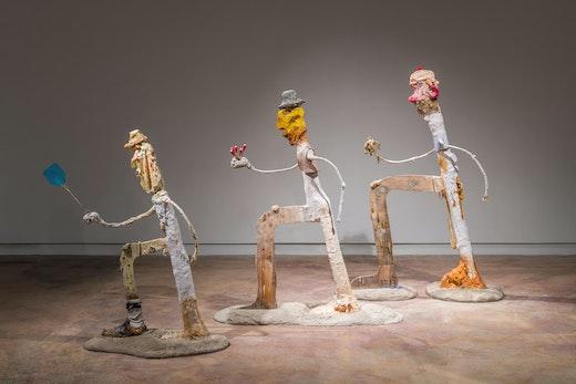 "Nicole Eisenman ""Procession,"" 2019-2020 Installation view, ""Nicole Eisenman: Sturm and Drang,"" The Contemporary Austin – Jones Center on Congress Ave, 2020"