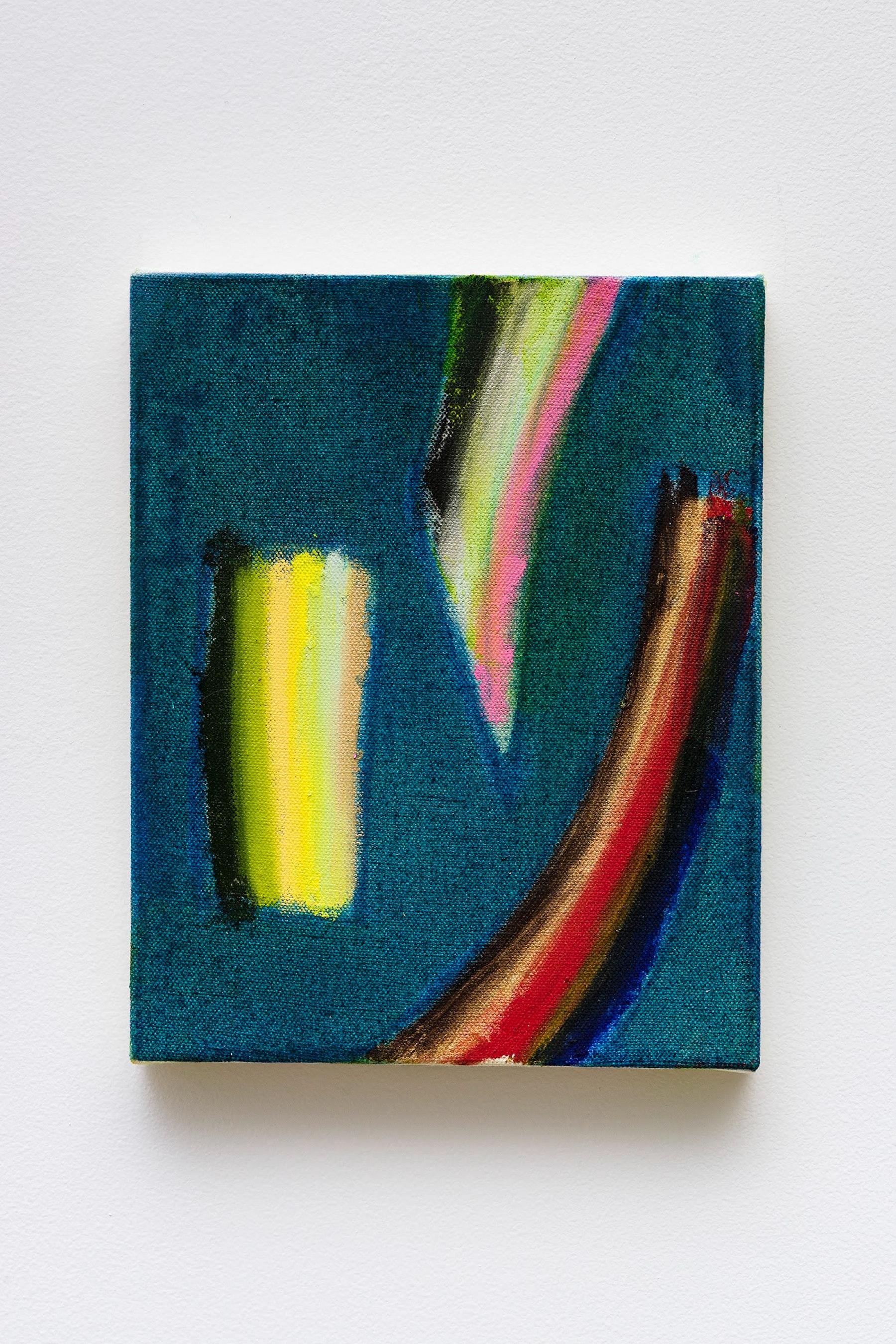 "Monique Van Genderen ""Untitled,"" 2020 Oil on canvas 10 x 8"" [HxW] (25.4 x 20.32 cm) Inventory #VGE391 Courtesy of the artist and Vielmetter Los Angeles Photo credit: Jeff Mclane"