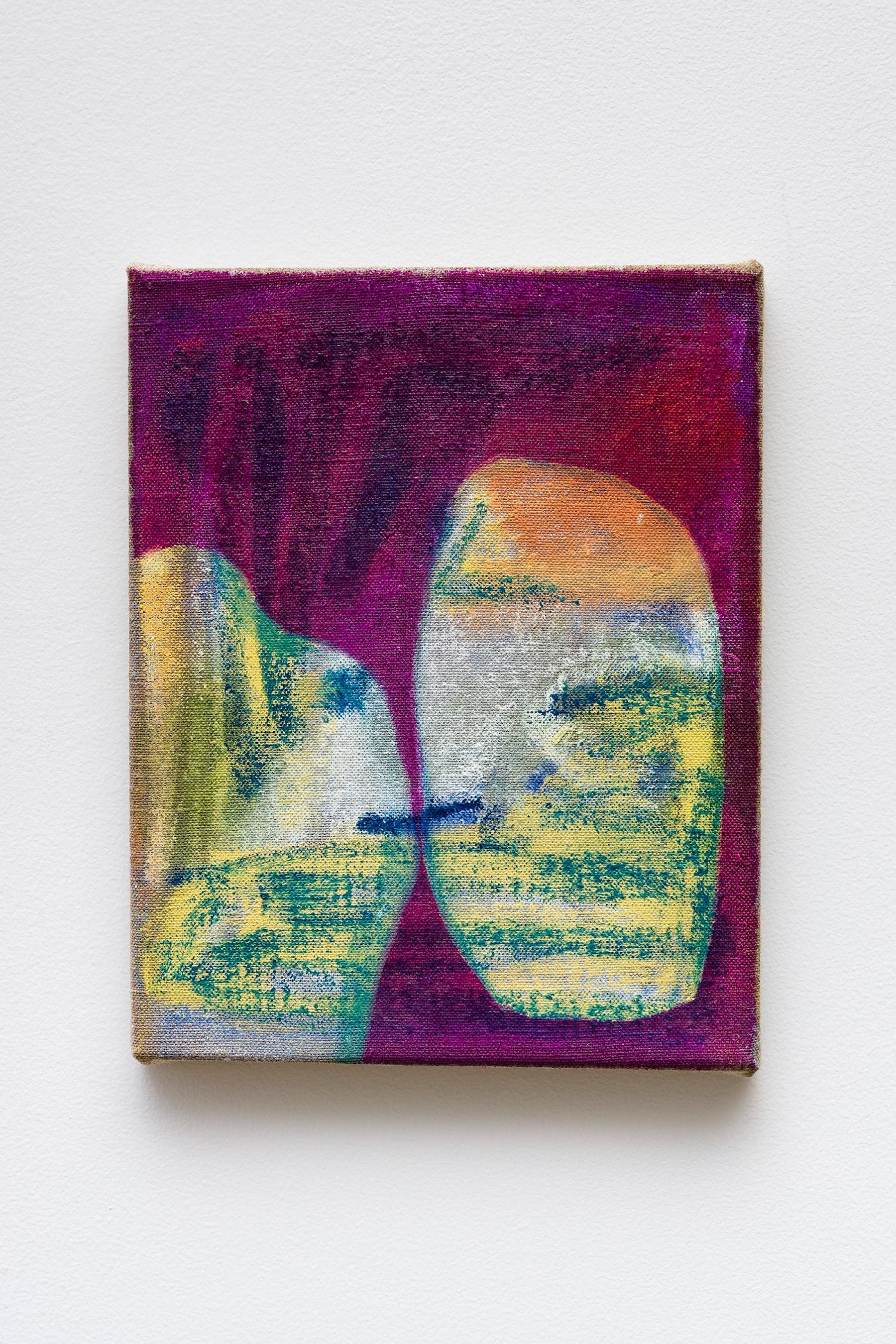 "Monique Van Genderen ""Untitled,"" 2020 Oil on linen 10 x 8"" [HxW] (25.4 x 20.32 cm) Inventory #VGE397 Courtesy of the artist and Vielmetter Los Angeles Photo credit: Jeff Mclane"