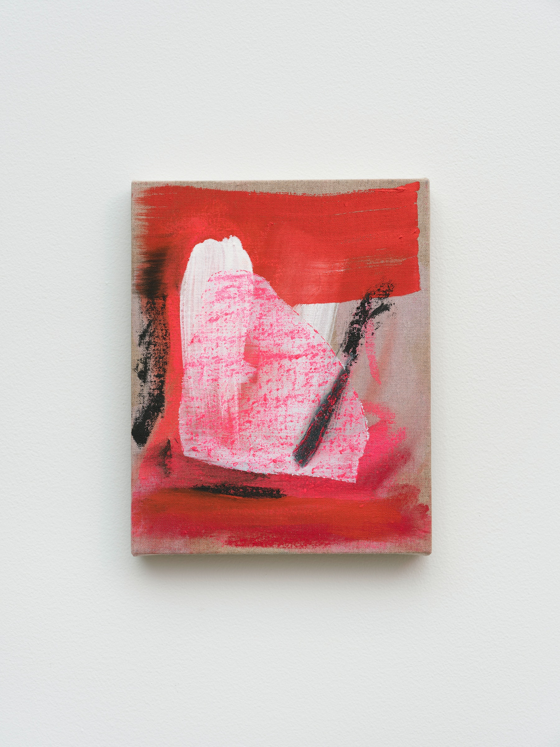 """Monique Van Genderen """"Abstract Lou,"""" 2021 Oil on linen 10"""" x 8"""" [HxW] (25.4 x 20.32 cm) Inventory #VGE419 Courtesy of the artist and Vielmetter Los Angeles Photo credit: Jeff McLane"""