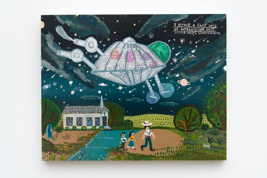"Esther Pearl Watson ""I Detect a Faint Wisp of Interstellar Dust,"" 2019"