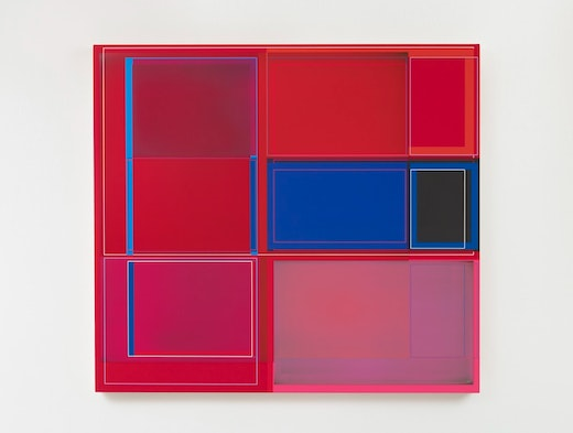 """Patrick Wilson """"Disrupted Grid (Red),"""" 2020"""