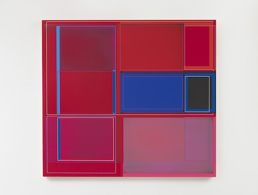 "Patrick Wilson ""Disrupted Grid (Red),"" 2020"