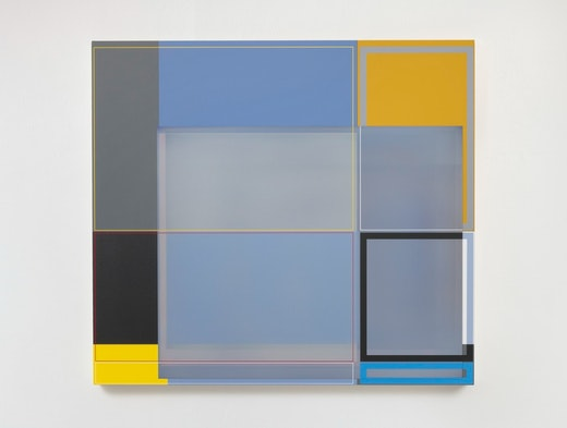 "Patrick Wilson ""Disrupted Grid (Gray),"" 2020"