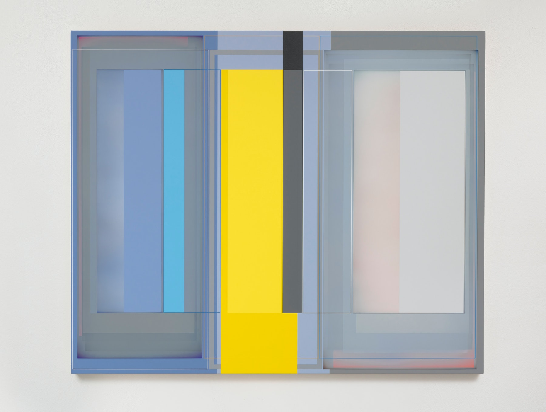 """Patrick Wilson """"Inside Space,"""" 2020 Acrylic on canvas 49"""" x 59"""" [HxW] (124.46 x 149.86 cm) Inventory #WIL567 Courtesy of the artist and Vielmetter Los Angeles Photo credit: Robert Wedemeyer"""