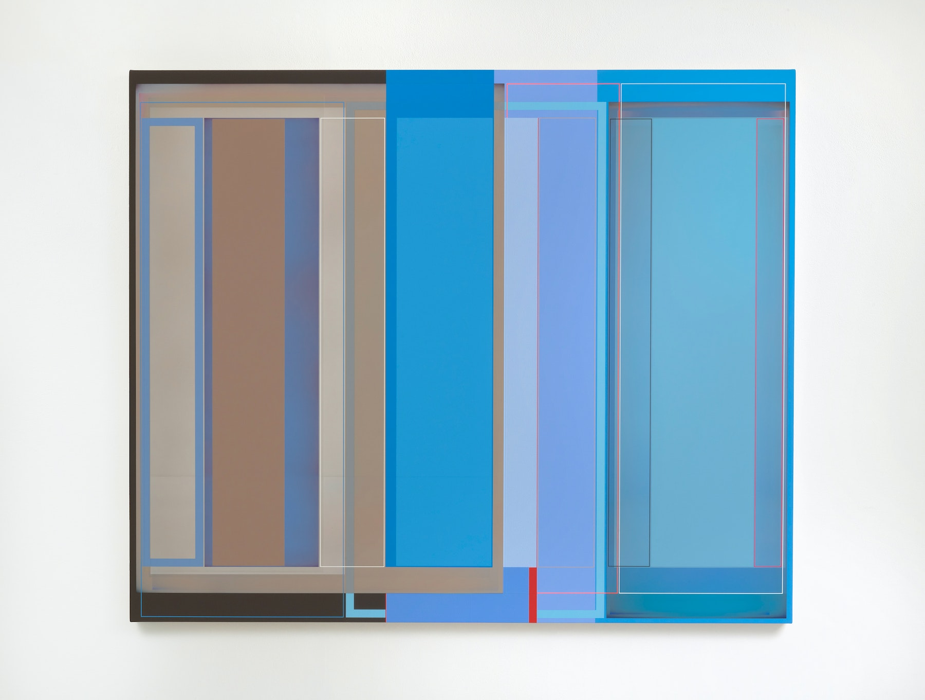 """Patrick Wilson """"Time and Place,"""" 2020 Acrylic on canvas 49"""" x 59"""" [HxW] (124.46 x 149.86 cm) Inventory #WIL568 Courtesy of the artist and Vielmetter Los Angeles Photo credit: Robert Wedemeyer"""