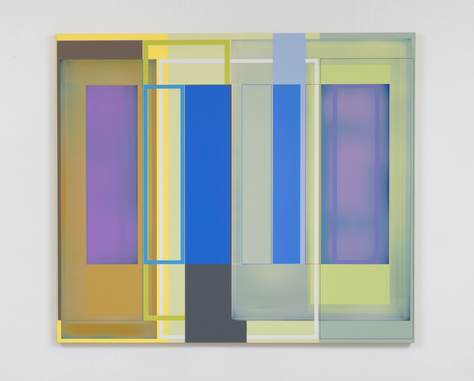 """Patrick Wilson """"Memory Code,"""" 2020 Acrylic on canvas 57"""" x 66"""" [HxW] (144.78 x 167.64 cm) Inventory #WIL570 Courtesy of the artist and Vielmetter Los Angeles Photo credit: Robert Wedemeyer"""