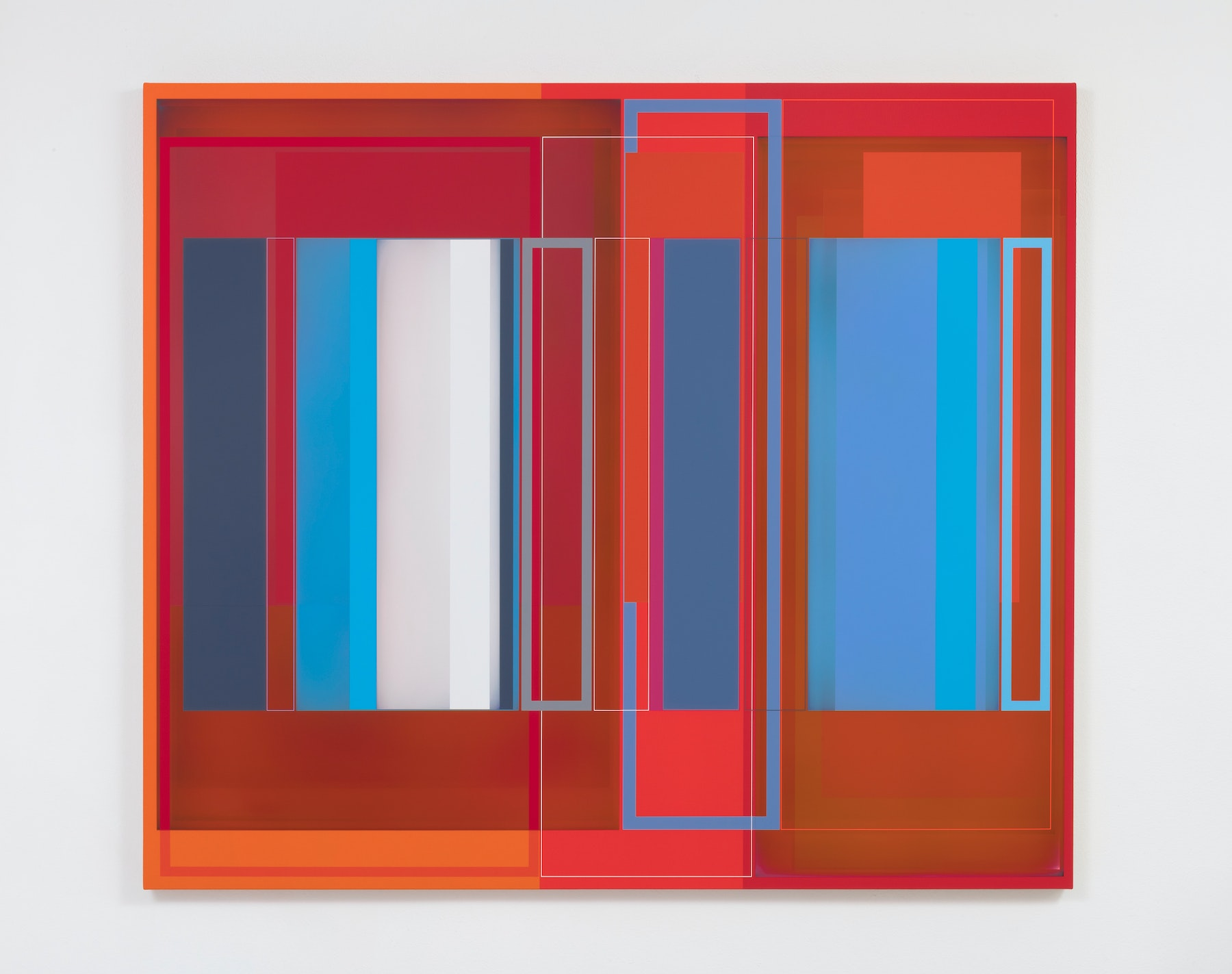 """Patrick Wilson """"Hot Beat,"""" 2020 Acrylic on canvas 57"""" x 66"""" [HxW] (144.78 x 167.64 cm) Inventory #WIL574 Courtesy of the artist and Vielmetter Los Angeles Photo credit: Robert Wedemeyer"""