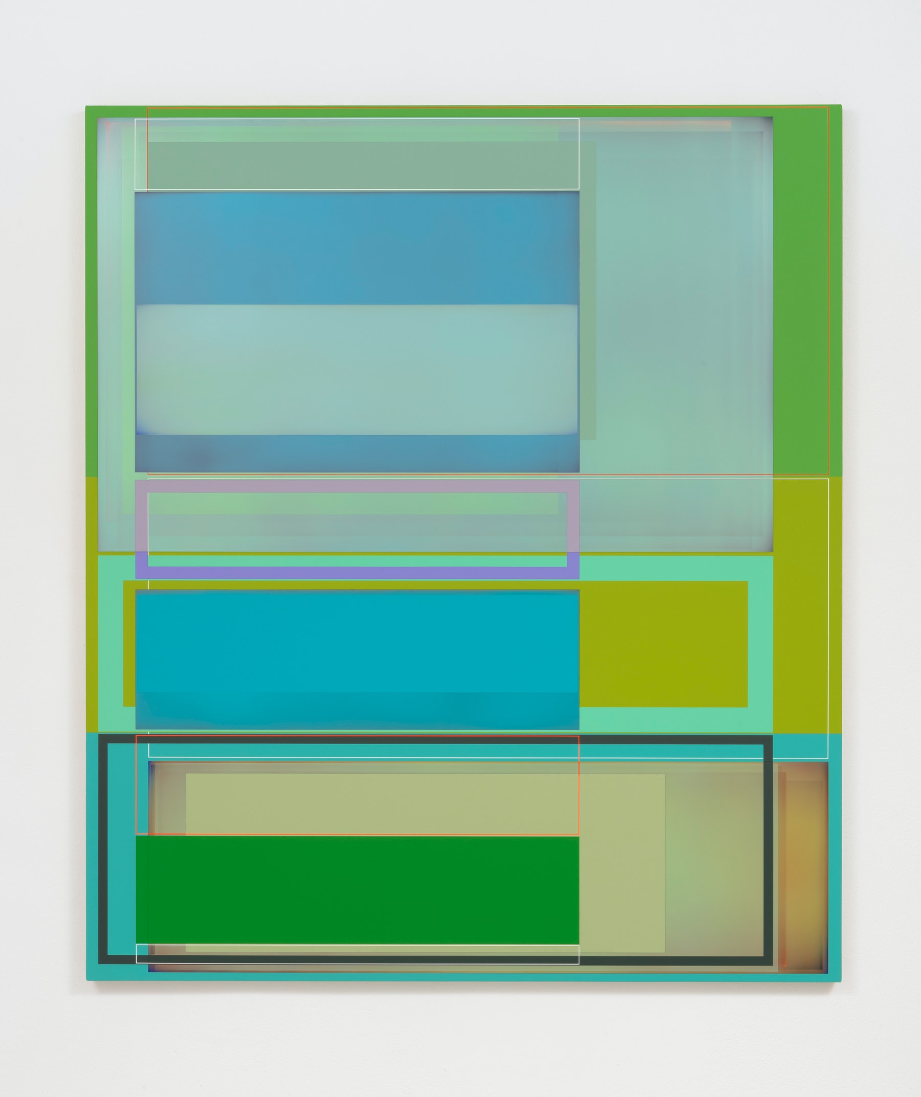 """Patrick Wilson """"Natural Selection,"""" 2020 Acrylic on canvas 66"""" x 57"""" [HxW] (167.64 x 144.78 cm) Inventory #WIL575 Courtesy of the artist and Vielmetter Los Angeles Photo credit: Robert Wedemeyer"""