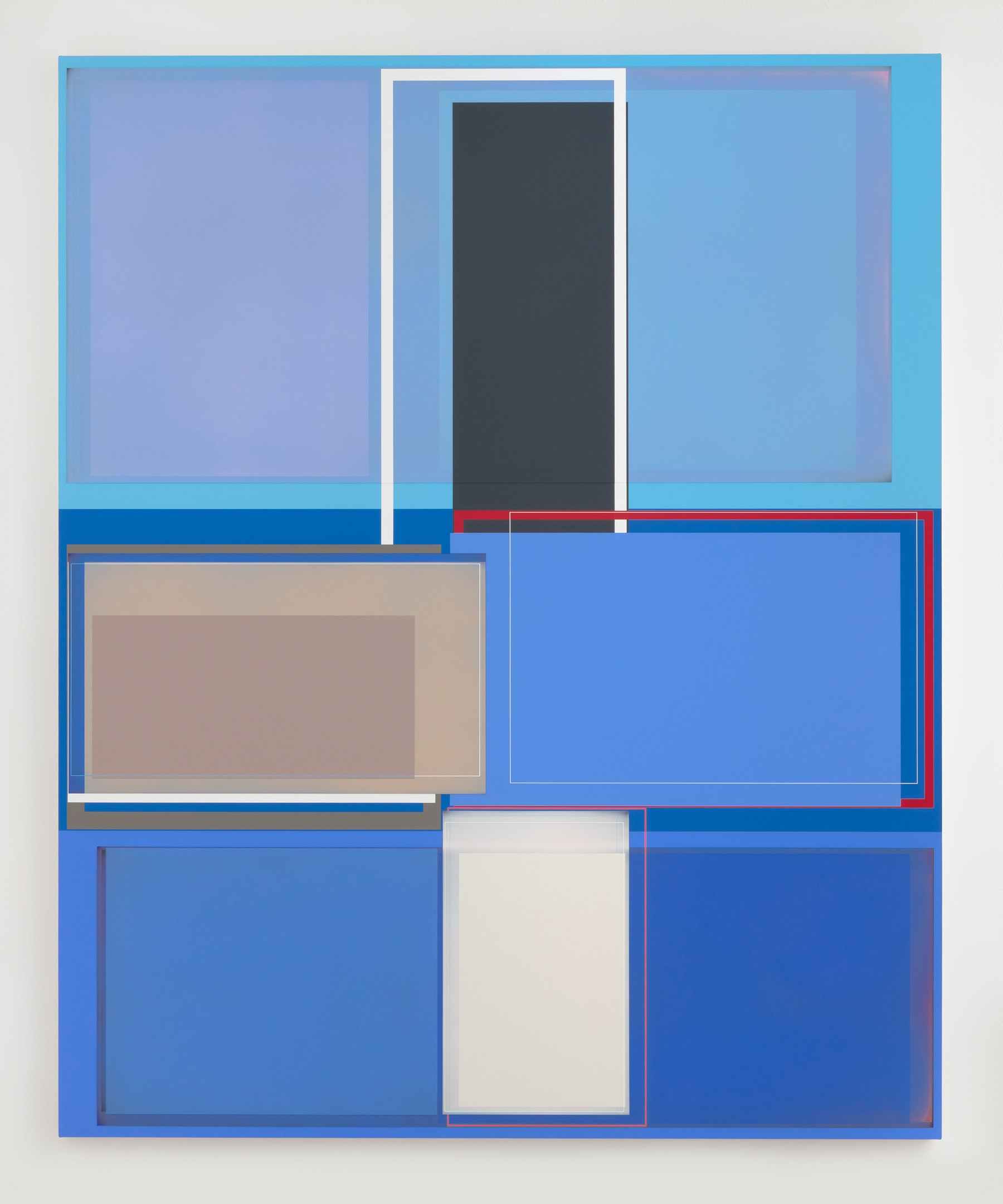 """Patrick Wilson """"Wind Gauge,"""" 2020 Acrylic on canvas 86"""" x 70"""" [HxW] (218.44 x 177.8 cm) Inventory #WIL580 Courtesy of the artist and Vielmetter Los Angeles Photo credit: Robert Wedemeyer"""