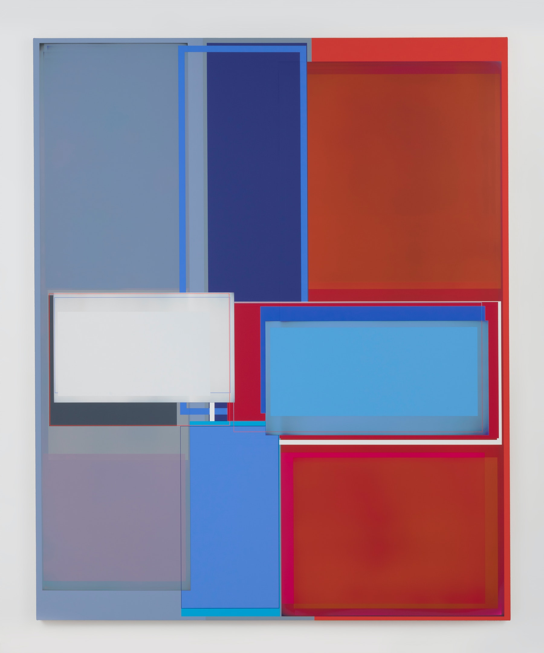 """Patrick Wilson """"Pressure Change,"""" 2020 Acrylic on canvas 86"""" x 70"""" [HxW] (218.44 x 177.8 cm) Inventory #WIL581 Courtesy of the artist and Vielmetter Los Angeles Photo credit: Robert Wedemeyer"""