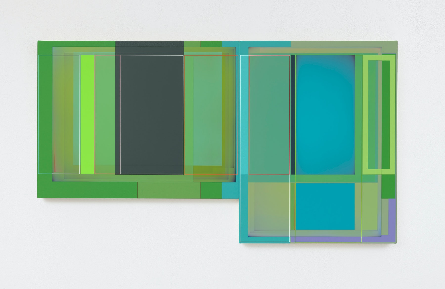"""Patrick Wilson """"Morning Light,"""" 2020 Acrylic on canvas 27"""" x 48"""" [HxW] (68.58 x 121.92 cm) Inventory #WIL582 Courtesy of the artist and Vielmetter Los Angeles Photo credit: Robert Wedemeyer"""