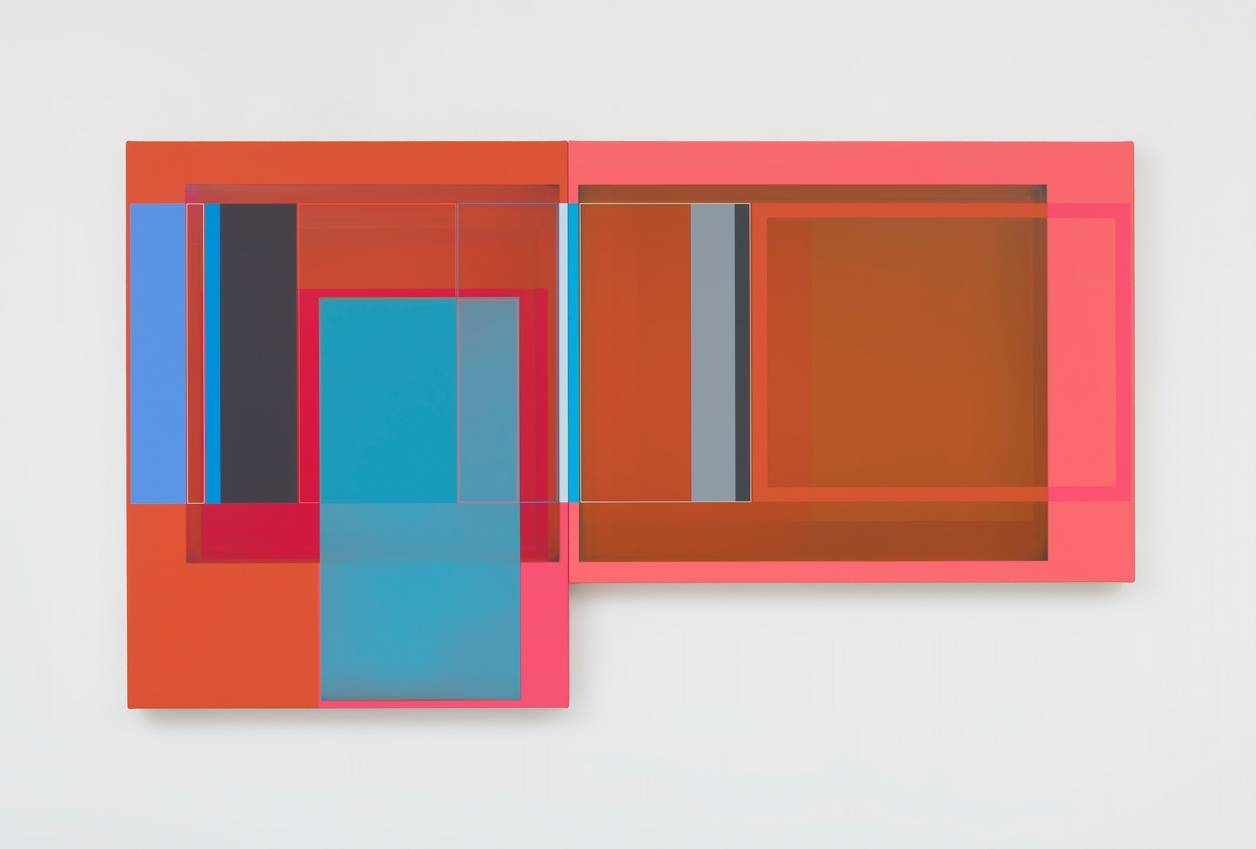 """Patrick Wilson """"Afternoon Breeze,"""" 2020 Acrylic on canvas 27"""" x 48"""" [HxW] (68.58 x 121.92 cm) Inventory #WIL588 Courtesy of the artist and Vielmetter Los Angeles Photo credit: Robert Wedemeyer"""