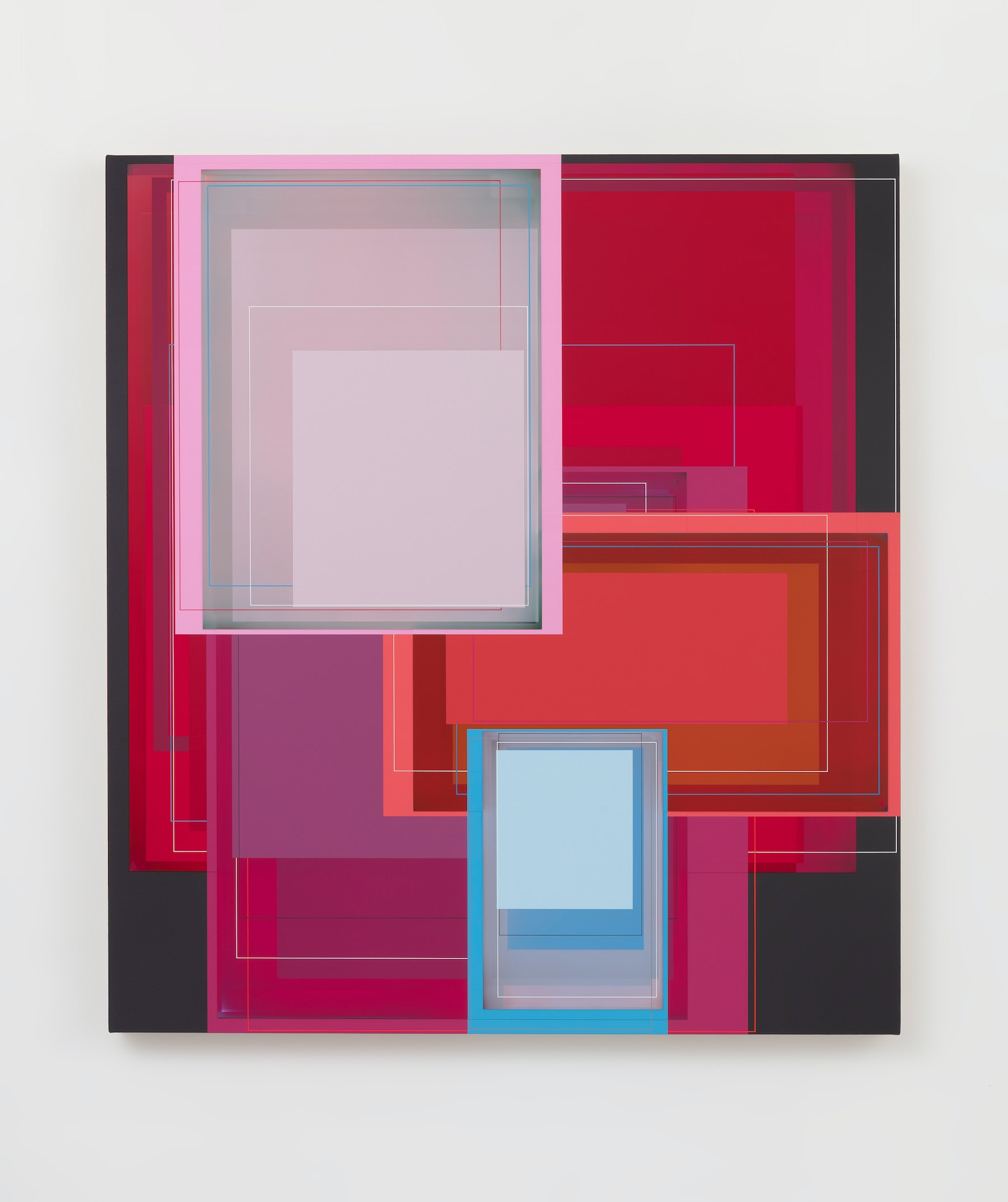 """Patrick Wilson """"Night Bloom,"""" 2020 Acrylic on canvas 41"""" x 37"""" [HxW] (104.14 x 93.98 cm) Inventory #WIL591 Courtesy of the artist and Vielmetter Los Angeles Photo credit: Robert Wedemeyer"""
