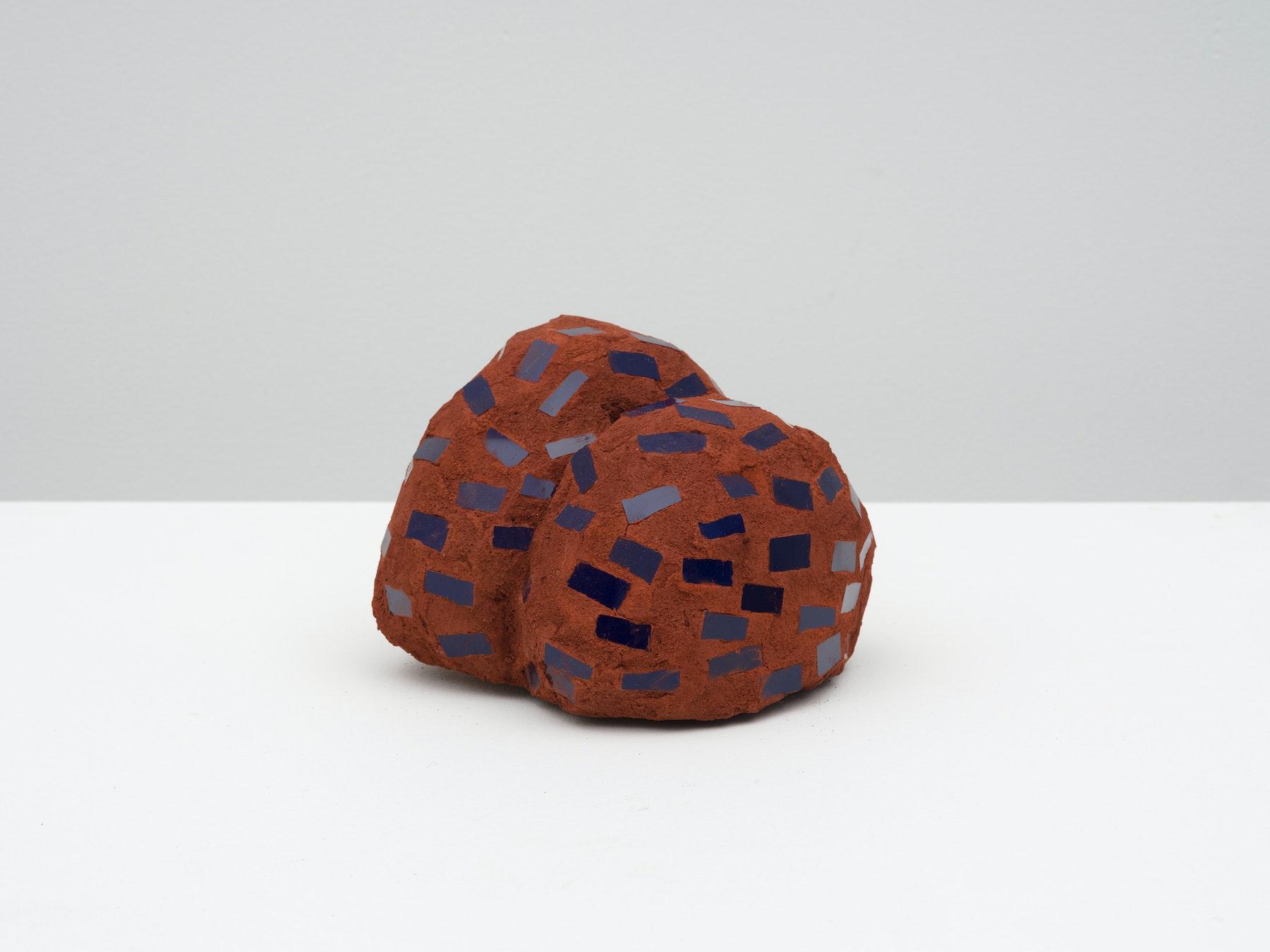 "Akina Cox ""Niki (Brown, Black),"" 2020 Glass, clay, grout, cement 4.5 x 5.25 x 5"" [HxWxD] (11.43 x 13.34 x 12.7 cm) Inventory #WS1045 Photo credit: Jeff Mclane"