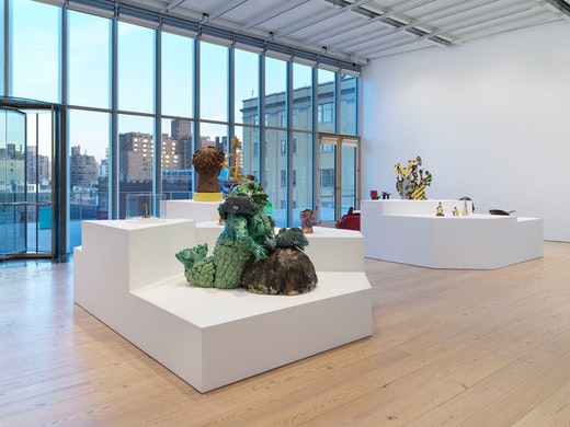 "Arlene Shechet Installation view, ""Making Knowing: Craft in Art, 1950–2019,"" Whitney Museum of American Art, New York (November 22, 2019–January 2021)"