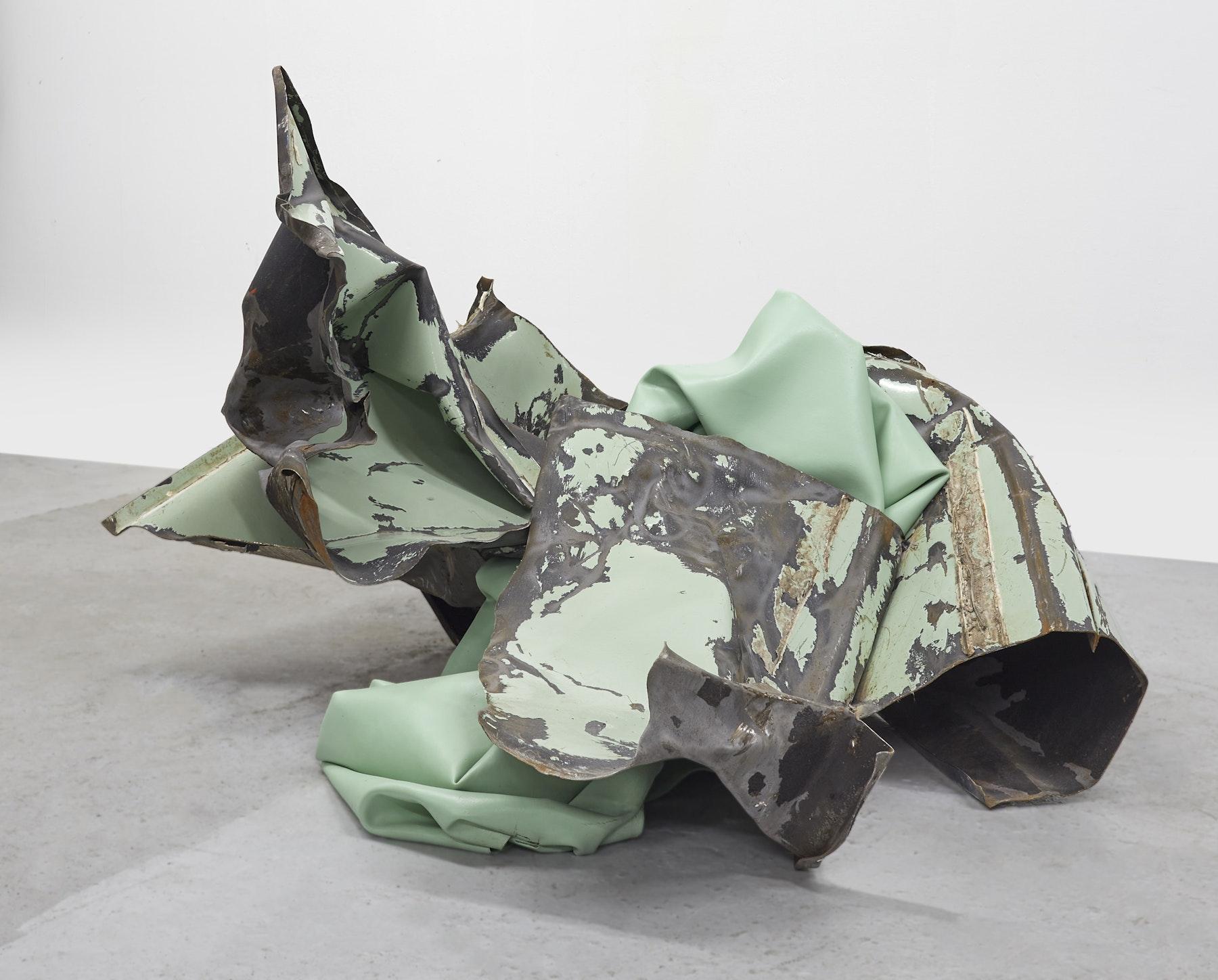 "Kennedy Yanko ""Precipice,"" 2020 Paint skin, metal 31.5 x 43 x 56"" [HxWxD] (80.01 x 109.22 x 142.24 cm) Inventory #YAN1014 Courtesy of the artist and Vielmetter Los Angeles"